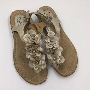 boc Leather flower Sling Back Thong Sandals sz 9